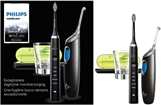 Philips Sonicare DiamondClean Sonic Electric Rechargeable Toothbrush and AirFloss Pro/Ultra-Interdental Cleaner with 1 Noz...