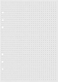 VEESUN Recambios de Punteado(Dotted) Papel de 6 Agujeros A5 para Insertos de Libreta Cuaderno Diario Bloc de Notas, 120 Hojas
