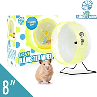"""Hamster Wheel 8"""" Pet Comfort Treadmill Running Quiet Wheels Large and Easy Attach to Wire Cage for Small Animals Under 3.5 Oz / 100 Grams Weight Syrian Hamsters Rats Guinea Pig Ferret - Premium PP"""