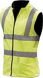 Yoko Mens Workwear Hi-Vis Reversible Fleece Vest/Jacket