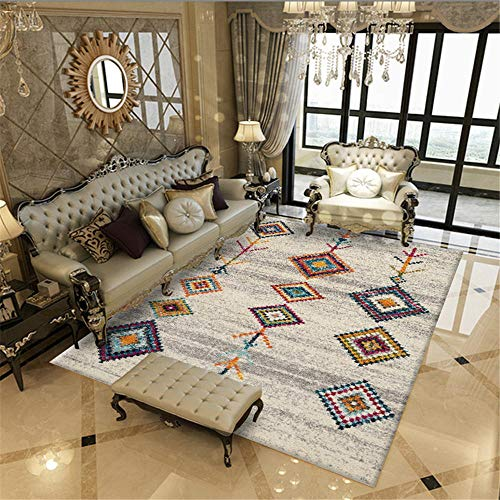 Kunsen alfombras Exterior terraza alfombras Dormitorio Carpeta Rectangular Gris Sala de Estar decoración de Desgaste Sucio alfombras de Salon 160X200CM 5ft 3' X6ft 6.7'
