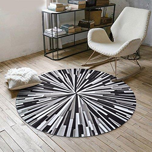 Skandinavien Teppich Amerikanische Persönlichkeit Runde Teppich, Nordeuropa Schlafzimmer Geometrische Muster Haushalt Computer Stuhl Kissen Teppiche / Matte ( Farbe : C , größe : Diameter 60 cm )