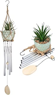 """Afirst Wind Chimes 36"""" Garden Art Wind Chime Unique Wind Chimes Succulent Plants Wind Chimes with S Hook,A Beautiful Gift for Your Garden, Patio,Porch and Home Decoration."""