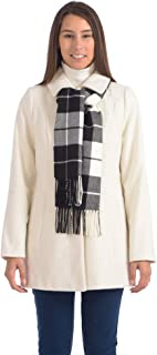 JENO NEUMAN Ladies Covered Button-Front Jacket with Scarf