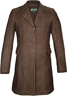 HIDEPARK York: Women's Brown Long Leather Coat