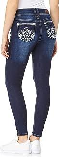 WallFlower Women's Juniors Luscious Curvy Bling Skinny Jeans