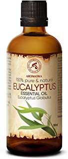 eukalyptus öl bio Eukalyptusöl Ätherisch 100ml - Reines Und Natürliche Eukalyptus Öl - Eucalyptus Globulus - Besten für Sauna - Inhalieren - Aroma Diffuser - Duftlampe - Essenzielles Eukalyptusöl
