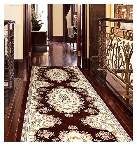 ditan XIAWU Langer Teppich Gang Eingang Treppe Schlafzimmer rutschfest Kann Geschnitten Werden (Color : Brown, Size : 65x300cm)