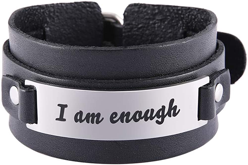 cooltime Inspirational Leather Bracelets St for Latest item Stainless Unisex Outlet sale feature