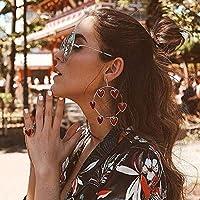 Nicircle イヤリング ハート型 ボヘミア ファッション女性ボヘミア中空イヤリング金属合金ヴィンテージ幾何学的中空アウト Fashion Women Bohemia Hollow Earrings Metal Alloy Vintage Geometric Hollow Out