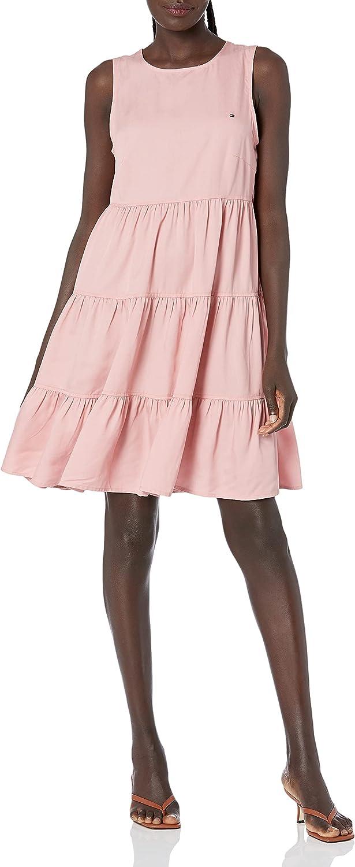Tommy Hilfiger Women's Tencel Tiered Dress