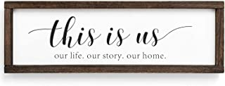 GLORIEUX ART Rustic Wood Sign Home Decor Farmhouse Wall Table Art Wall Hanging or Free Standing Sign, Wooden Frame Decorat...
