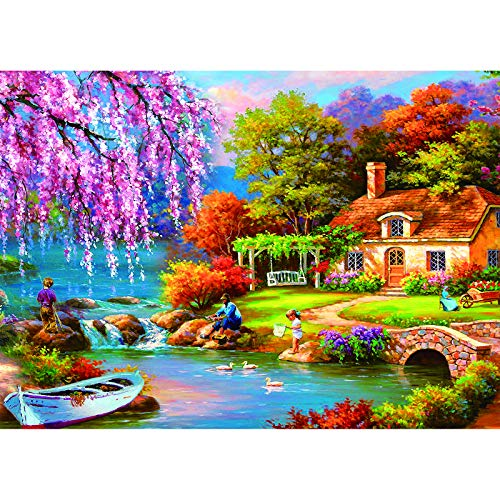 Toreta Puzzles for Adults 500 Piece,Fishing Jigsaw Puzzles 500 Pieces for Adults,500 Piece Puzzle Art for Family,Pieces Fit Together Perfectly,Large Puzzle Games Toys(14.5x20 inch)