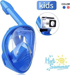 IMMEK Máscara de Buceo,Máscara de Buceo para Niños,180 ° Máscara de Buceo,Máscara de Snorkel,Máscara Easybreath,Anti-vaho Anti-Fuga,Tamaño Universal para Todos Niño