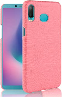 Protective Case Compatible with Samsung Pattern [Ultra Slim] PU Leather Anti-Scratch PC Protective Hard Case Cover Compatible Samsung Galaxy A6s (6.0 inch) Phone case (Color : Pink)
