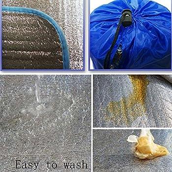 Tapis isolant en aluminium 200 x 250 cm - Tapis thermique mat - Pour sol