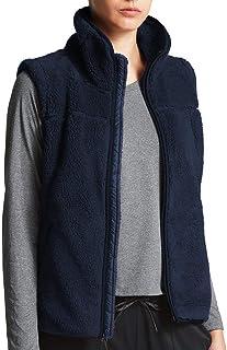MIROL Women's Slim Open Front Sleeveless Cardigan Fuzzy Zipper Sherpa Fleece Oversized Vest Pockets