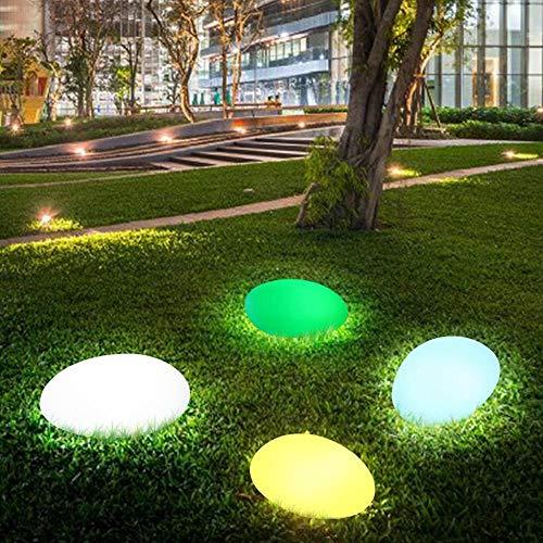 Luces solares Las luces solares al aire libre, Forma resplandor del adoquín de piedra Luz solar del jardín impermeable de color cambiante panorama de luces con control remoto Luces al aire libre