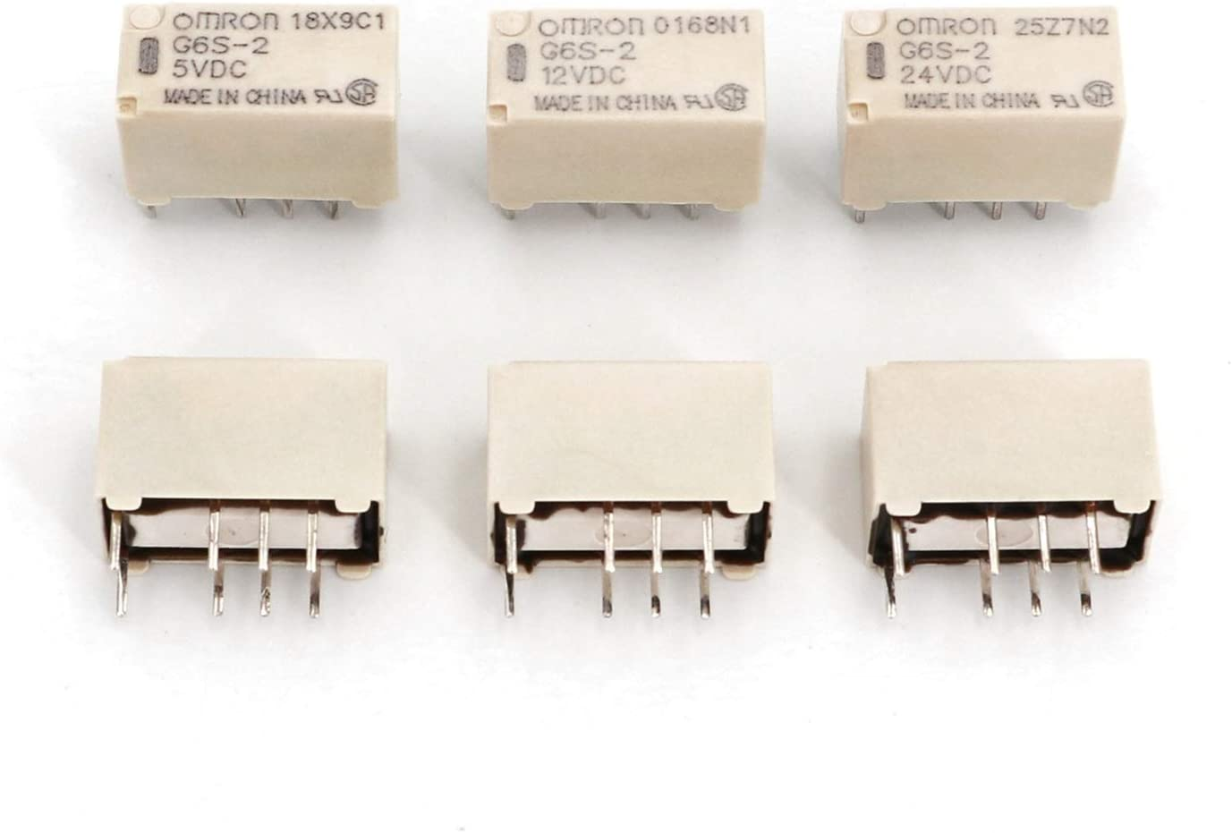 WEIJIAMY Factory outlet Relay 10Pcs G6S-2 DC5V 12V 8Pin 24V 2-Pole PCB Mount DP Ranking TOP15