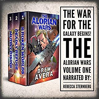 The Alorian Wars: Volume 1: Books 1-3      Arian Wars Sets              By:                                                                                                                                 Drew Avera                               Narrated by:                                                                                                                                 Rebecca Sternberg                      Length: 18 hrs and 22 mins     Not rated yet     Overall 0.0