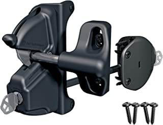 D&D Technologies LokkLatch Deluxe LLDAB-K Heavy Duty Gate Latch, Adjustable Vertical & Horizontal, Six Pin Key Lockable, Lock & Unlock from Both Sides of Gate, for Any Square Post Up to 6