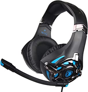 New Black Color Sades SA-822 Multi-platform Compatible Over-Ear 3.5mm Stereo Bass Gaming Headphone with Noise Isolation Mi...