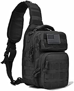 Tactic Ops Tactical Sling Bag Backpack Pack Military Waterproof Assault Rover Shoulder Sling Molle Range Bag Everyday Carry EDC Diaper Bag Small Day Pack