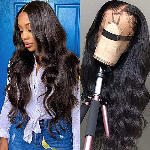 TOOCCI 360 Lace Frontal Perruque Humains Cheveux Wig Cap Human Hair Wig Bresilienne Lace Wig Afro Meches Brésilienne Curly Hair 150 Densité (22\