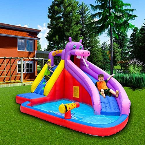 BGSFF Castillo Hinchable Inflable, Castillo de Piscina Inflable Tobogán de Juguete para niños Equipo de Juego al Aire Libre Hogar Trampolín pequeño Zona de Juegos para niños 400 * 300 *