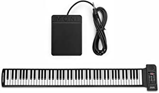 $65 » Flexzion Portable Roll Up Piano - Digital Electronic Keyboard with 88 Keys Soft Silicone Flexible Foldable Key Sheet Built-in Speaker and Sustain Pedal Supports USB MIDI Output