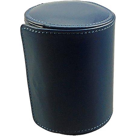 収納 ケース ネクタイケース 本革 レザー 革 皮 携帯 ケース 収納 革 イタリア フルタンニンレザー 紳士 くるくる 旅行 おしゃれ エイジング 出張 就職 お祝い プレゼント (Box-013-Blue)