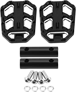 Outbit Footpegs - 1 Pair of Motorcycle Wide Foot Pegs,Pedals Rest Footpegs for G310R G310GS R1200GS LC S1000XR.(Black and Sliver) (Color : Black)