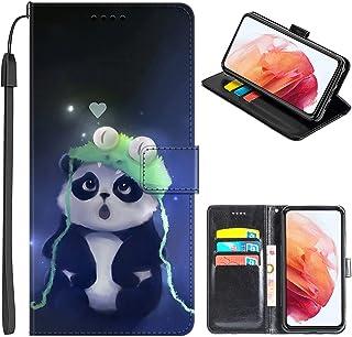 JMTALL Kompatibel med Alcatel 1SE 2020 telefon flip plånbok fodral groda panda design PU-läder telefonskydd med korthållar...