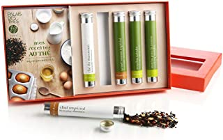Palais des Thés Cooking with Tea Boxed Set: 5 Tubes of Green & Black Teas with Recipe Book (53g)