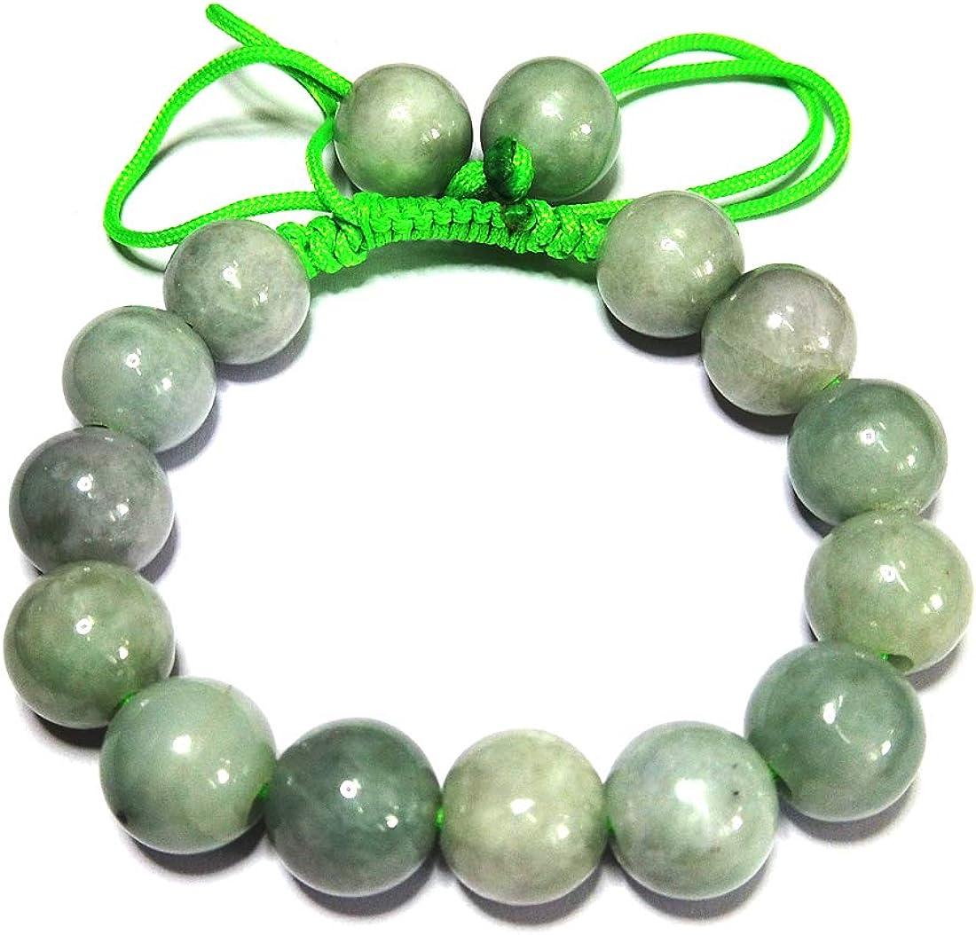 Karatgem Jewelry Multi-Style Genuine Jade Adjustable Rope String Bracelet Bangle Beads