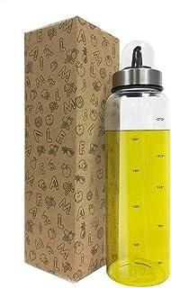 Zhiyangmaoyi 家庭キッチン用 ガラス オイルボトル オイルポット 醤油ボトル 酢ボトル ドレッシング ボトル 漏れ止め 防塵 300ml