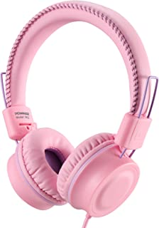 POWMEE M2 Kids Headphones Wired Headphone for KidsFoldable Adjustable Stereo Tangle-Free3.5MM Jack Wire Cord On-Ear Headph...