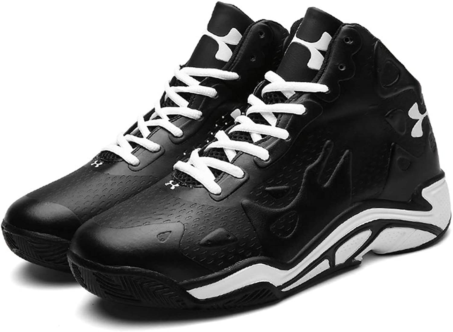 Men's shoes,High-Top Basketball shoes, Spring Fall Artificial PU Sneakers,Slip Resistant Running shoes, Outdoor Exercise Sneakers
