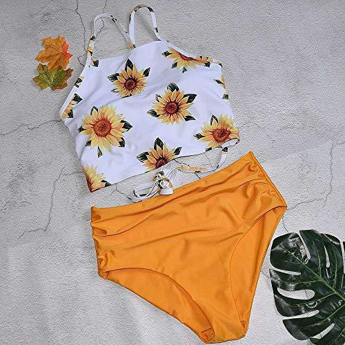 MedusaABCZeus Latex Badeanzug,Bedruckte Hosenträger, Badeanzug mit hoher Taille und geteiltem Badeanzug-White_XL,Badeanzug Schwarz Netz