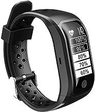 Waterproof GPS Smart Bracelet S908 Fitness Tracker Support Calls MGS Reminder Pedometer Heart Rate for Smartphones - Black