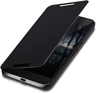 kwmobile Funda para Huawei Google Nexus 6P - Carcasa Plegable para móvil - Case con Tapa y Soporte en Negro