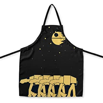 OFFICIAL Star Wars Kitchen Apron | Features the Death Star and AT-AT Walkers | Perfect Kitchen Accessory & Décor