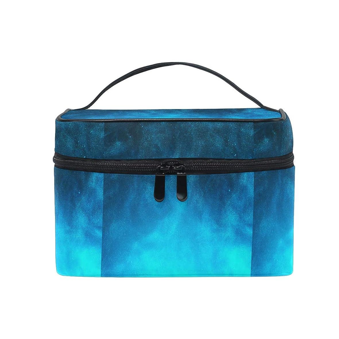 遊び場ずっとお誕生日青い星の宇宙銀河メイクバッグ 旅行 メイクボックス バッグ トイレタリー トレイン ケース レディース 美容 化粧ポーチ ポーチ