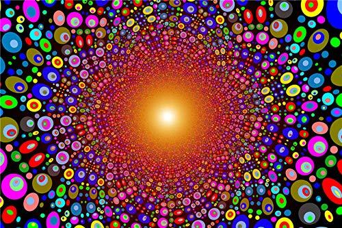 WOMGD® Color Dot - Houten puzzel van 1000 stukjes, houten puzzels voor volwassenen-500