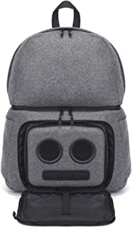 Backpack Cooler with 20-Watt Bluetooth Speakers & Subwoofer for Parties/Festivals/Beach/School. Rechargeable Cooler Backpack, Works with iPhone & Android (Gray, 2020 Edition)