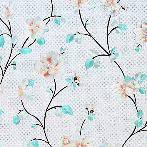 Housolution Pellicola per Finestra, Pellicole Protetive Antiadesivo per Finestre Decorativa in PVC, Senza Colla Statica, Cover Anti Ultravioletto per Decorazione per la Casa, 200 x 45cm, Jasmine