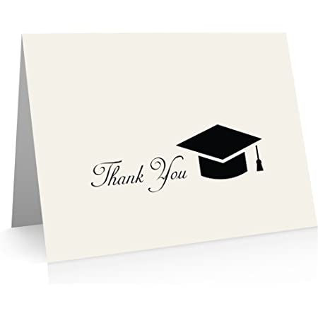 Grad Thank You Cards Graduation Note Cards Graduation Thank You Notes Graduation Stationery Folded Grad Note Cards