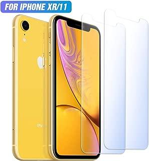 iphone11/iPhone XR ガラスフィルム ブルーライトカット Dodofine【2枚セット】強化フィルム ブルーライト液晶保護フィルム 目の疲れ軽減 2.5Dラウンドエッジ加工 飛散防止 硬度9H 指紋防止 簡単貼り付け 自己吸着 キズ防止 衝撃吸収 撥油性 6.1インチ