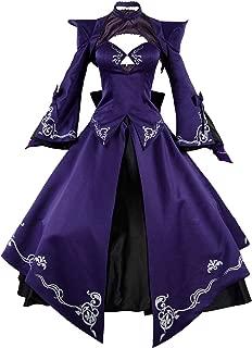UU-Style Halloween Fate/Stay Night Grand Order FGO Dark Saber Alter Black Dress Stage 3 Cosplay Costume