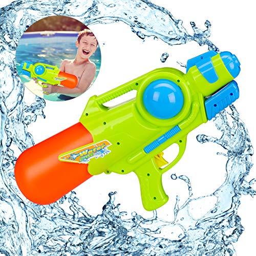 Relaxdays waterpistool, 1 liter watertank, 5 meter bereik, voor het pompen, kinderen en volwassenen, spuitpistool, kleurrijk